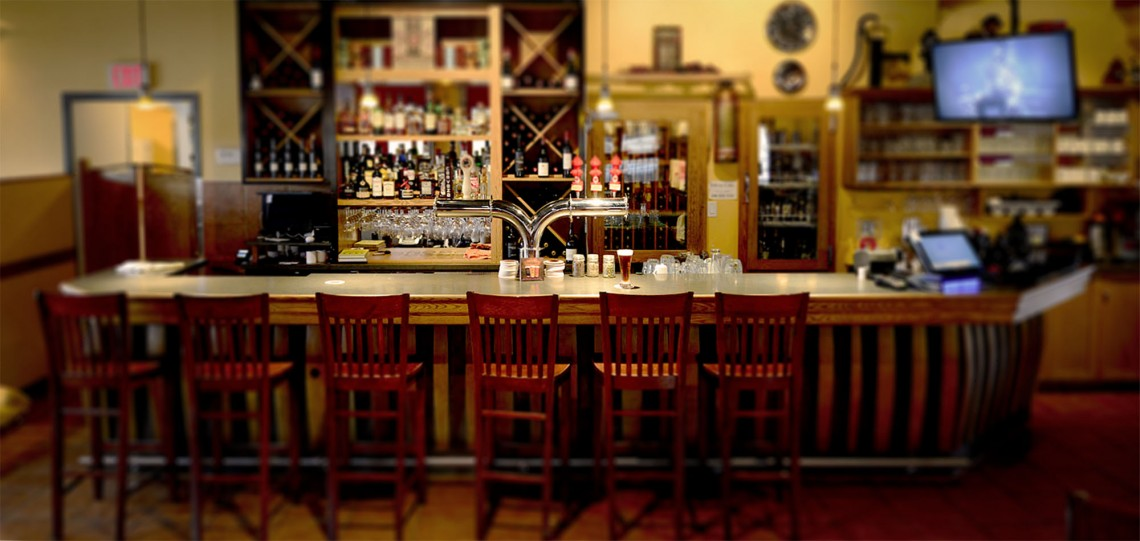 a photo of the bar