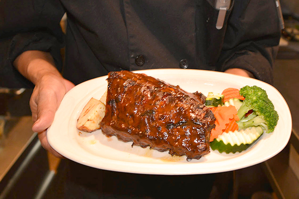 A plate of BBQ Ribs